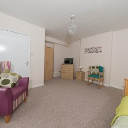Typical private care room at Kingsley Court